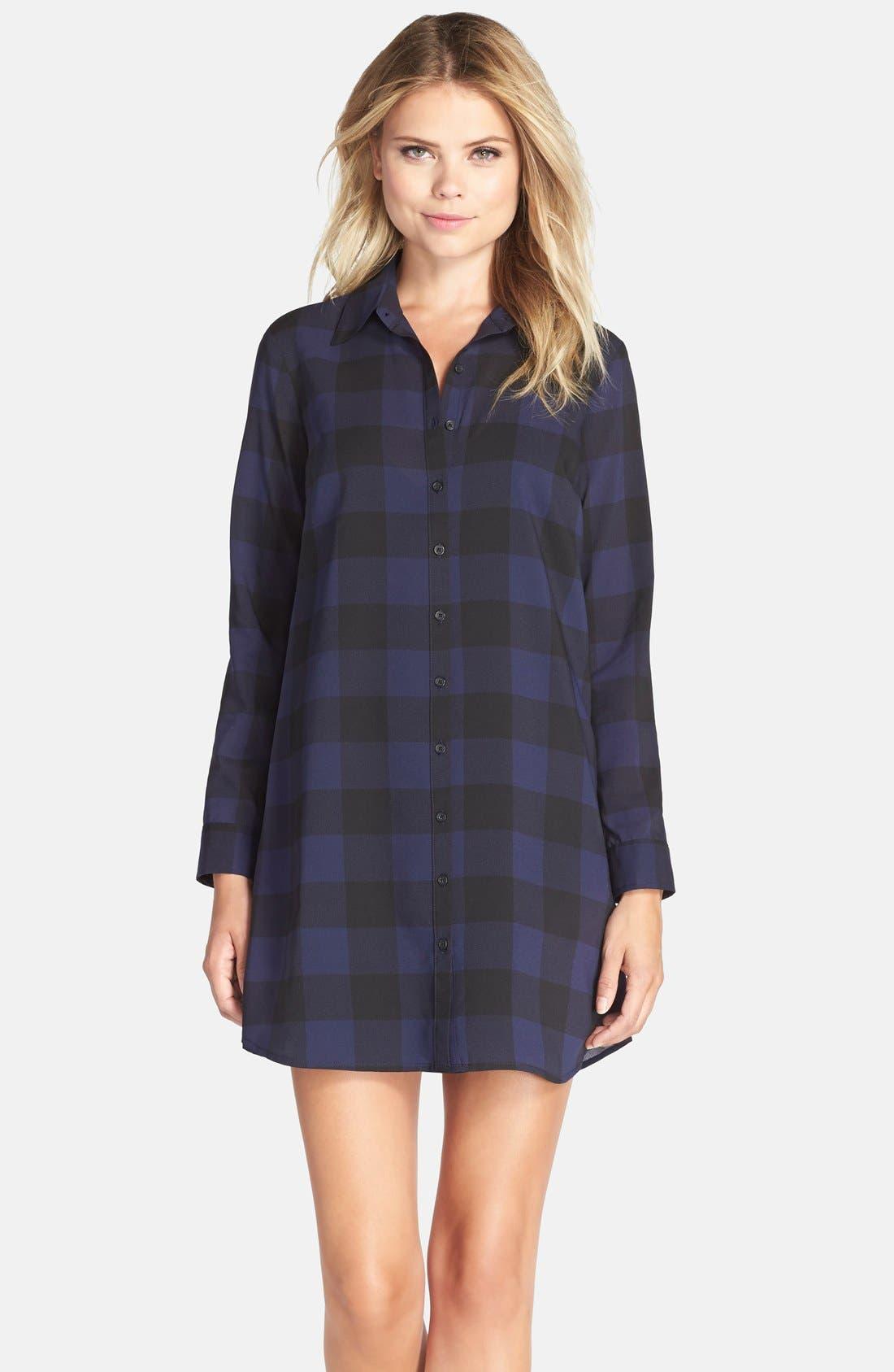 Alternate Image 1 Selected - BB Dakota 'Cotter' Plaid Shirtdress