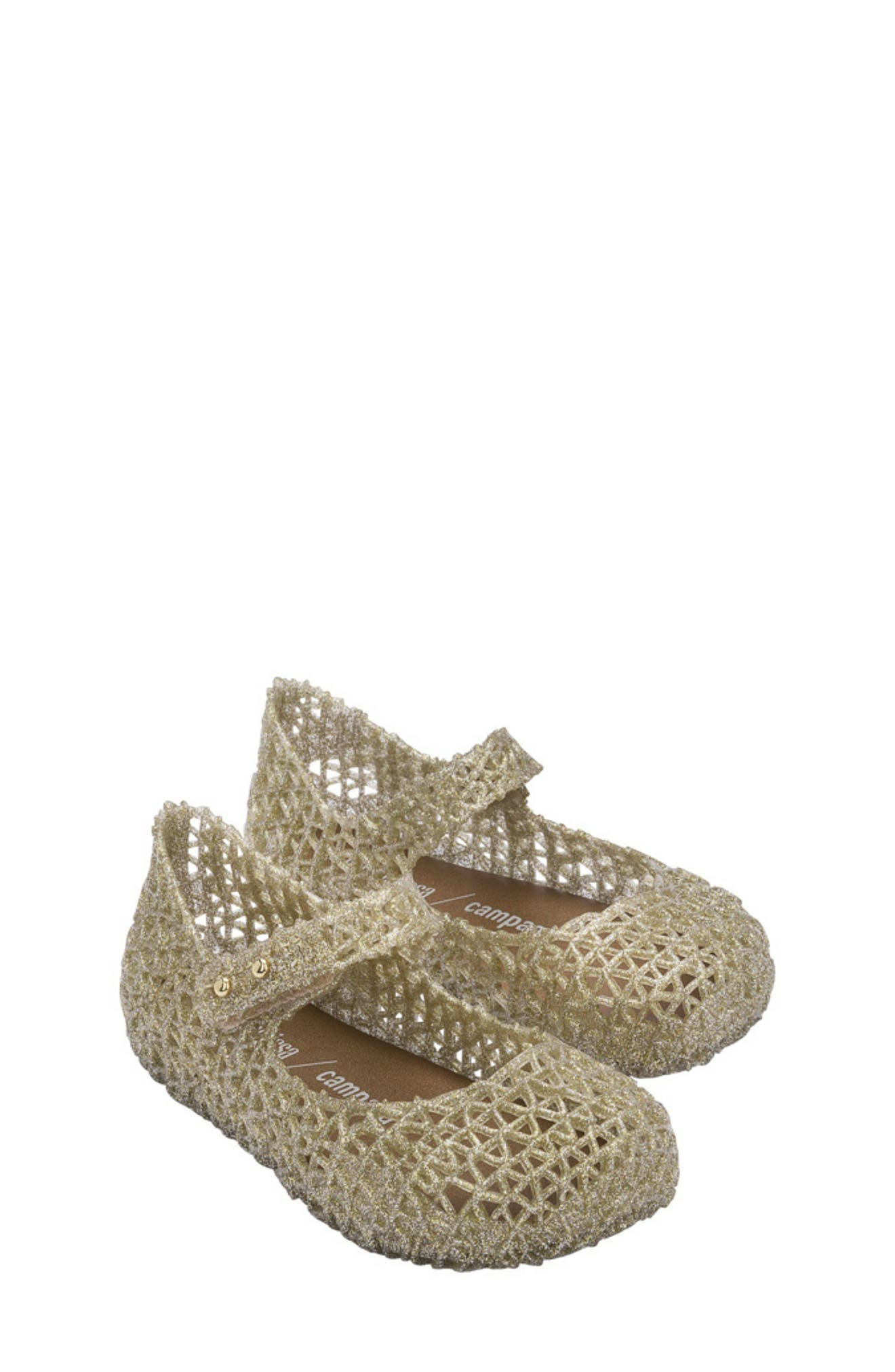 Mini Melissa Mel By Melissa Girls Gold Star Sandals Size 11 New