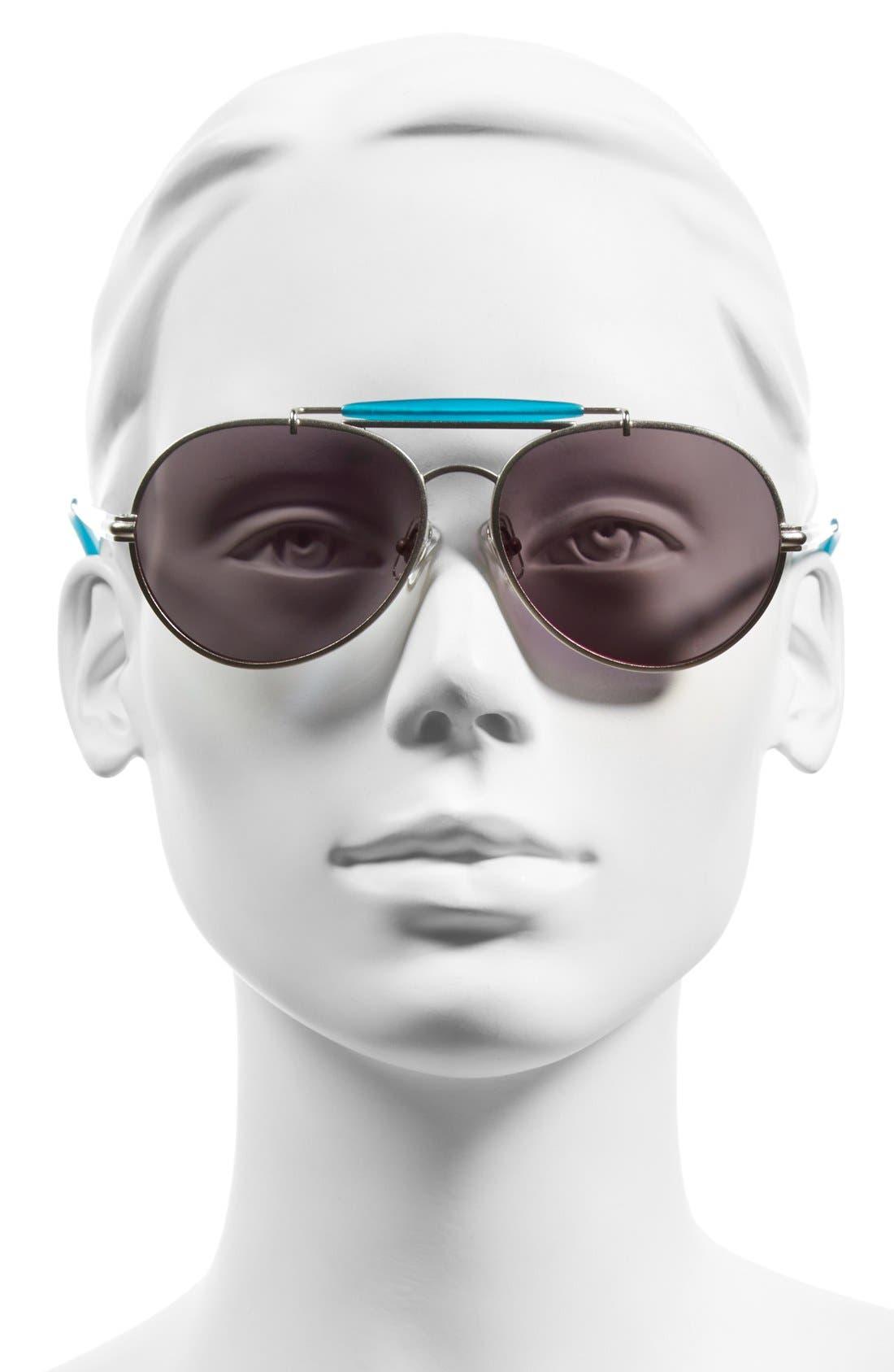 Alternate Image 2  - Wildfox 'Goldie Deluxe' 55mm Mirrored Aviator Sunglasses