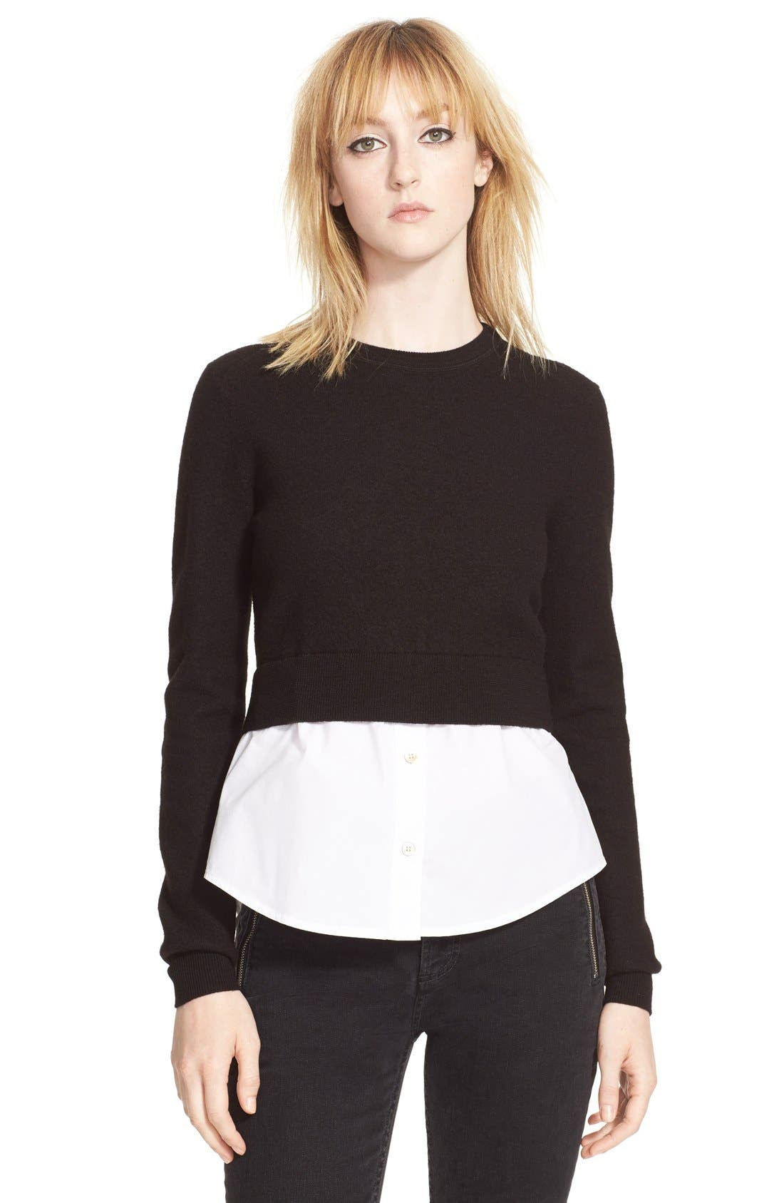 Main Image - MARC BY MARC JACOBS 'Superfelt'Shirttail Sweater