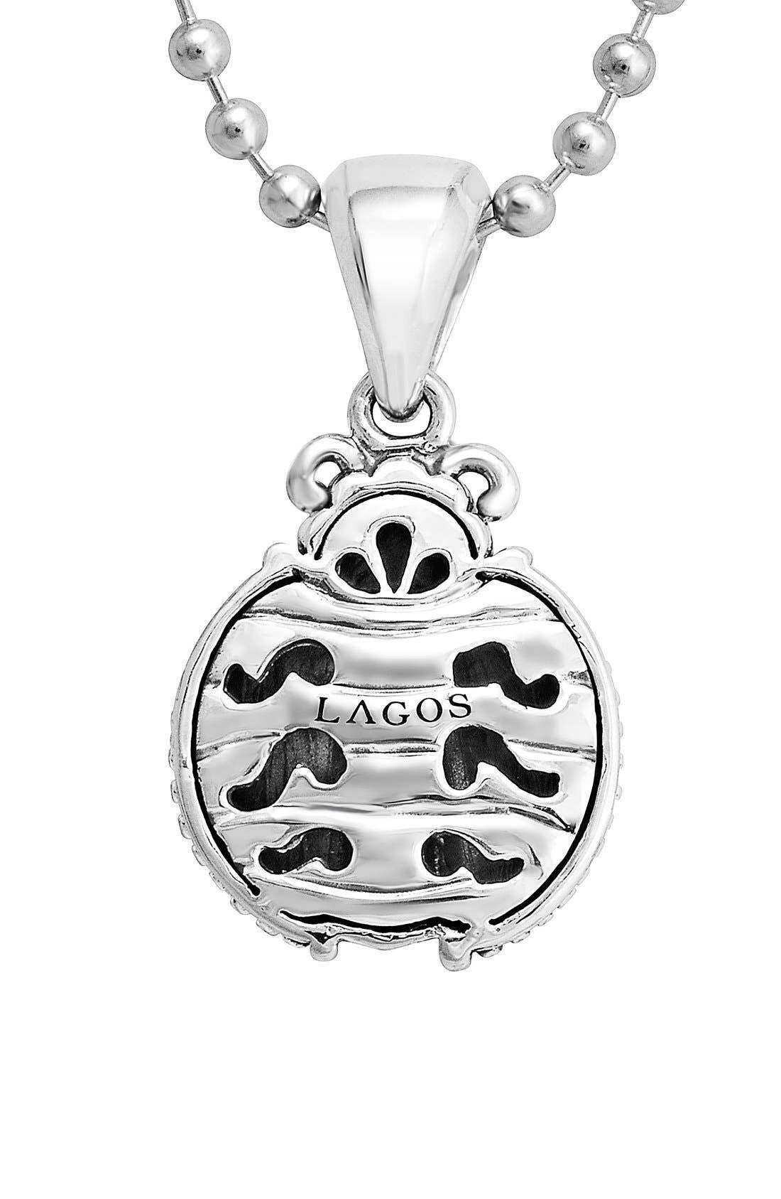 'Rare Wonders - Ladybug' Long Talisman Necklace,                             Alternate thumbnail 3, color,                             Silver
