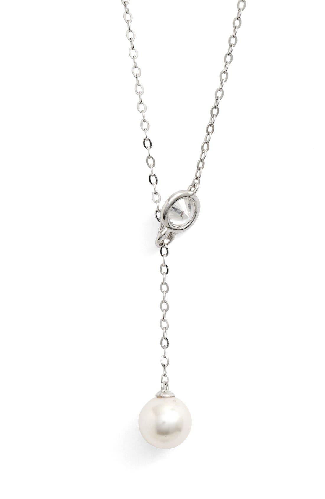 Alternate Image 2  - Nadri Faux Pearl Long Y-Necklace