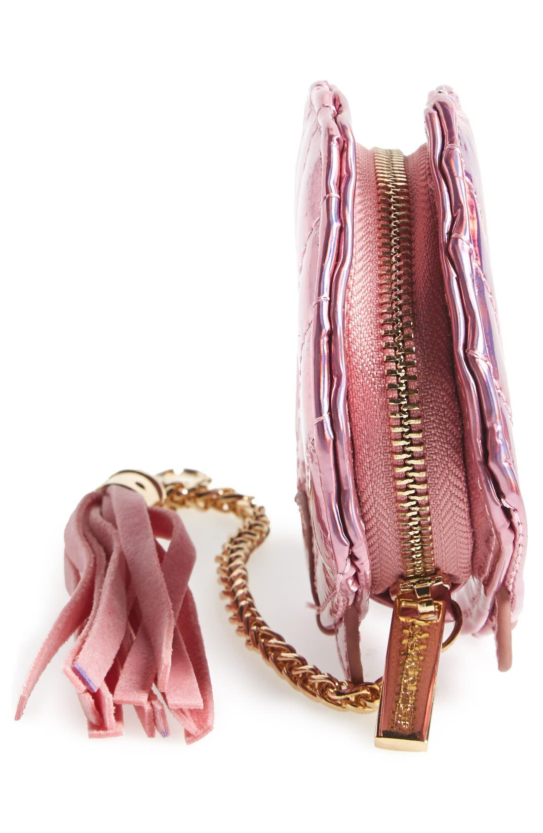 'Shell' Coin Purse,                             Alternate thumbnail 5, color,                             Pink