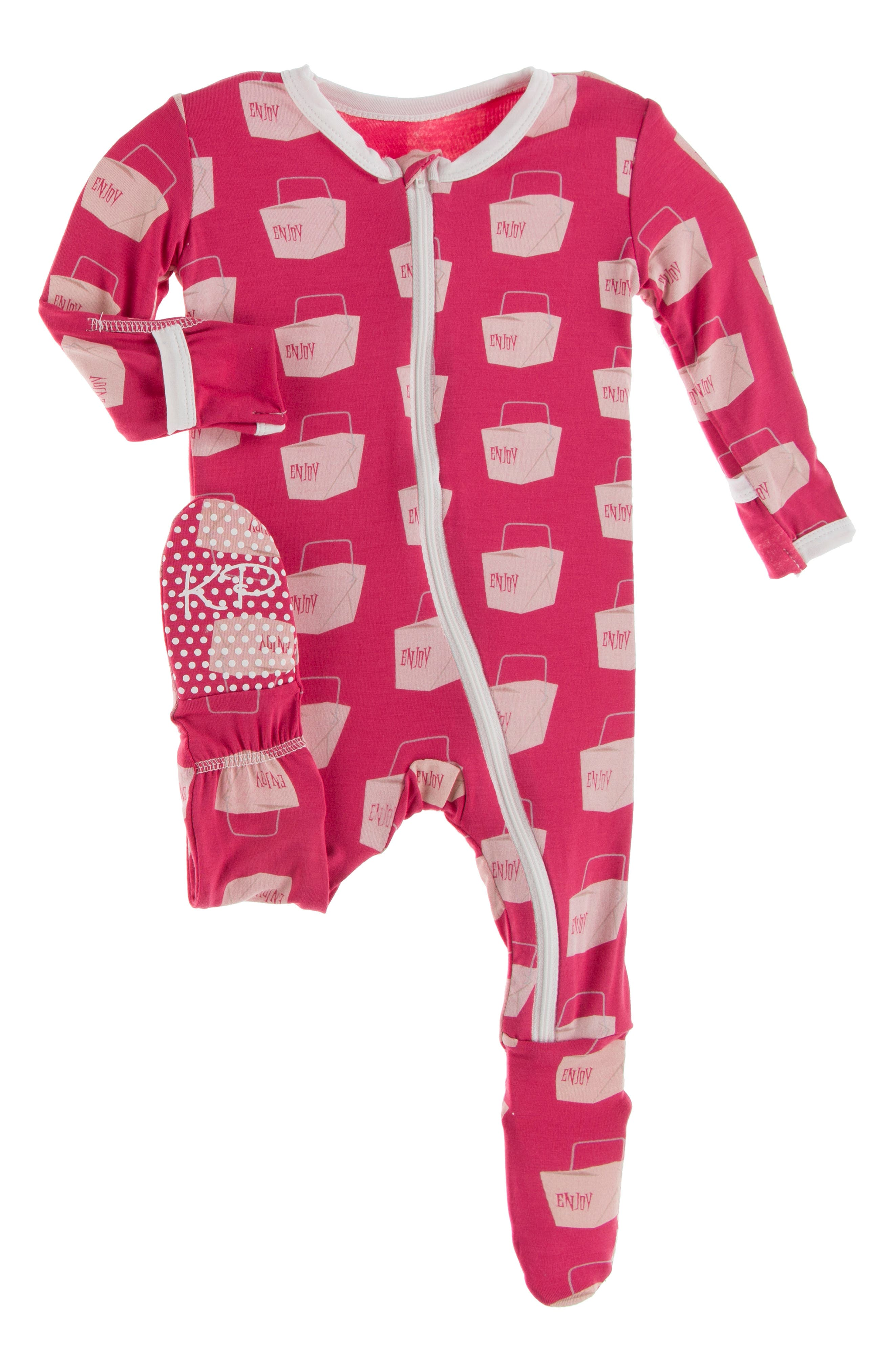 Organic Year of the Dog Onesie Pink or Blue Red