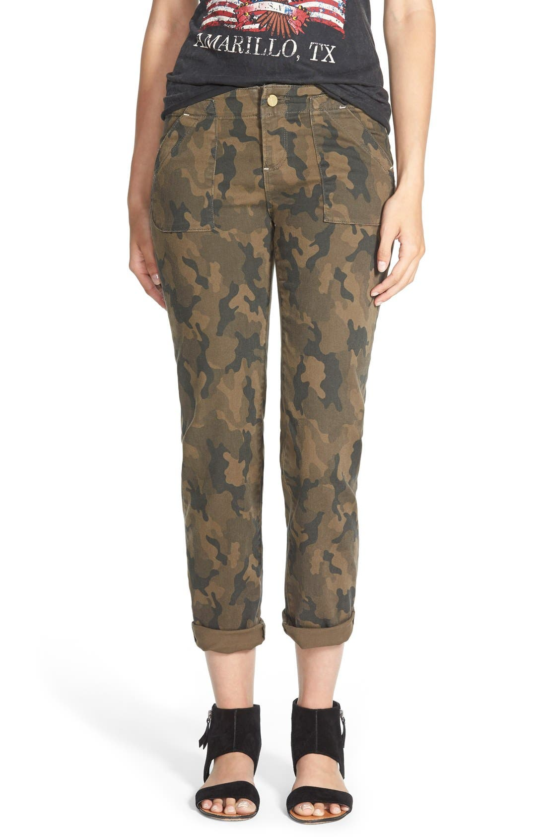 Main Image - Standards & Practices Camo Print Crop Boyfriend Jeans (Camo)