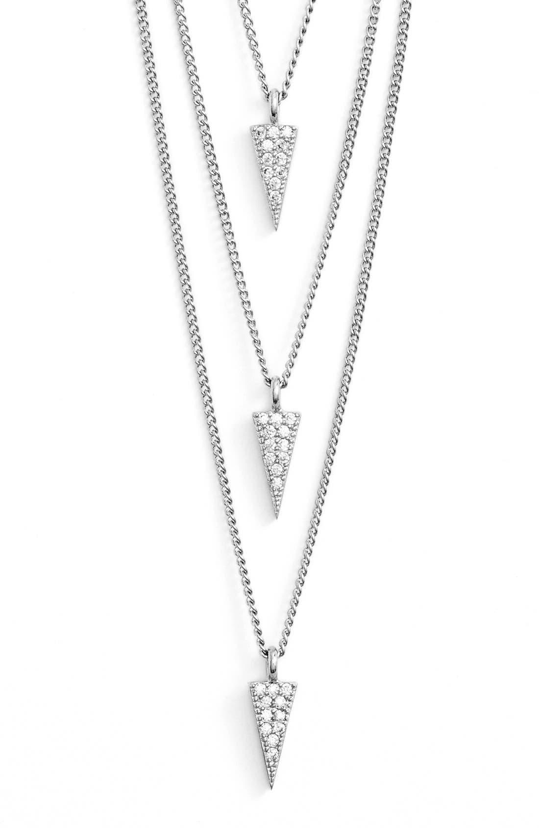 Alternate Image 2  - Melanie AuldTriple Layer Pavé Pendant Necklace