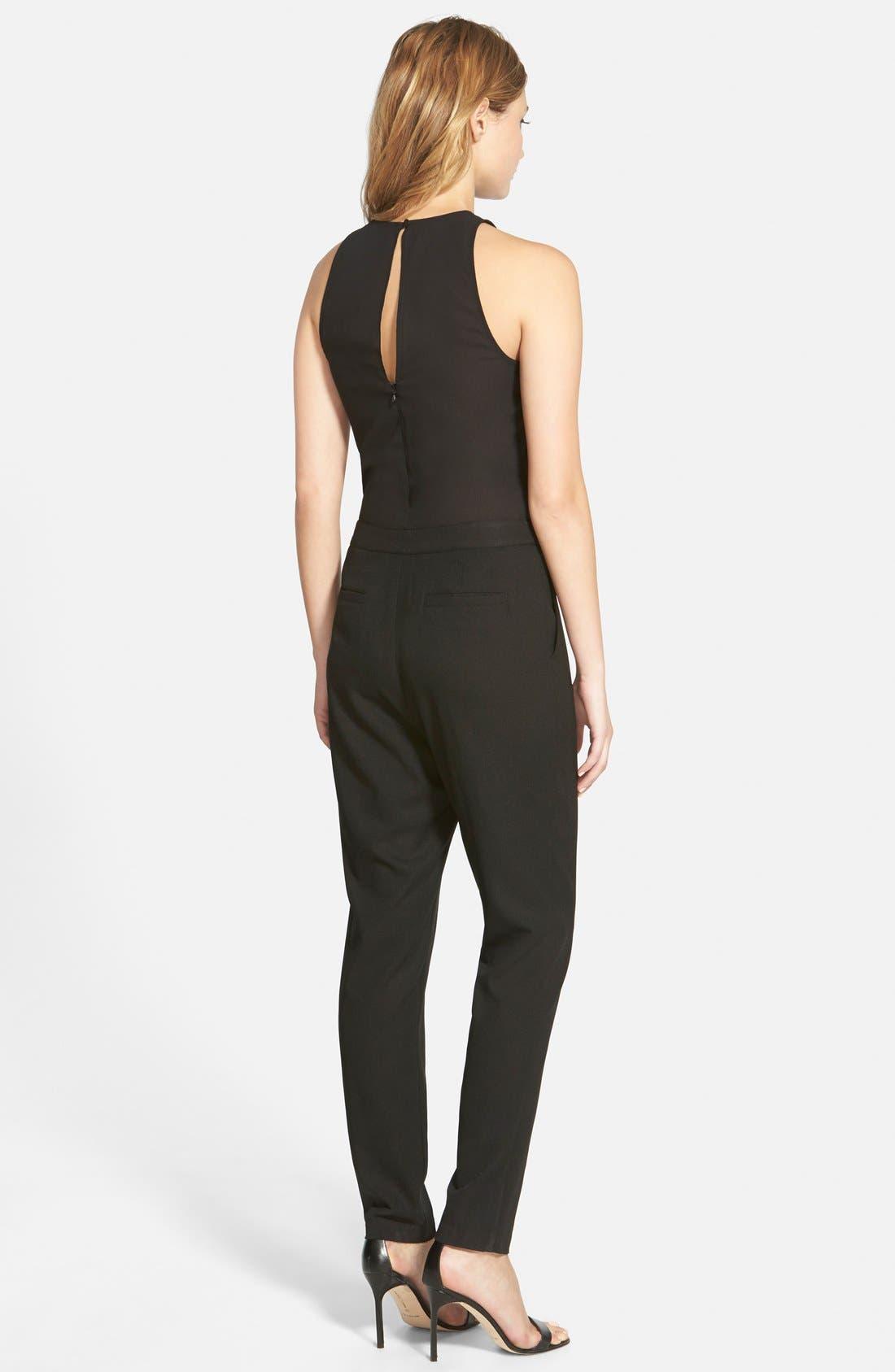 'Bradbury' Sleeveless Jumpsuit,                             Alternate thumbnail 3, color,                             Black