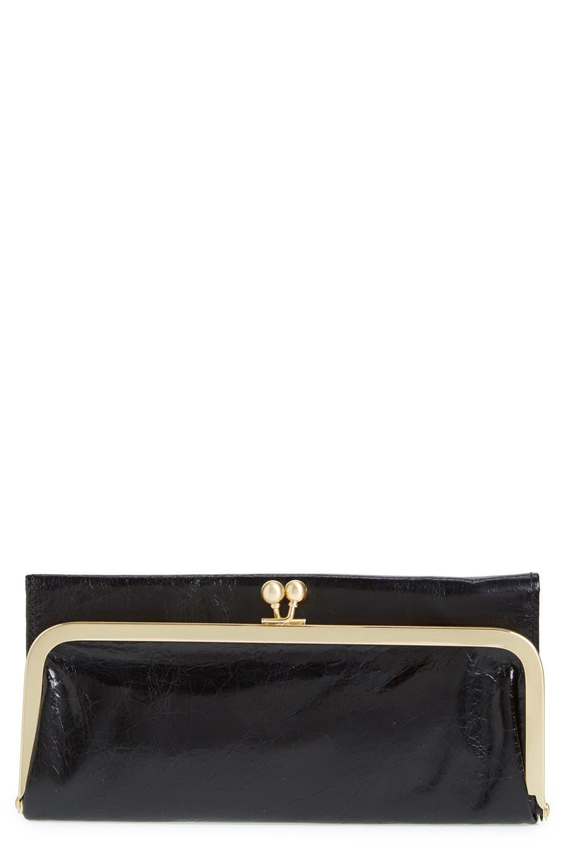 'Rachel' Frame Wallet,                             Main thumbnail 1, color,                             Black