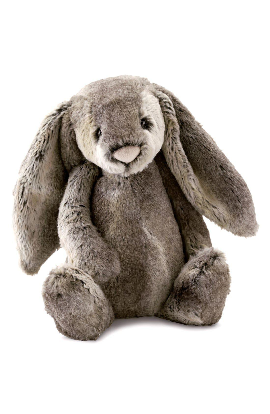 'Huge Woodland Bunny' Stuffed Animal,                         Main,                         color, Grey