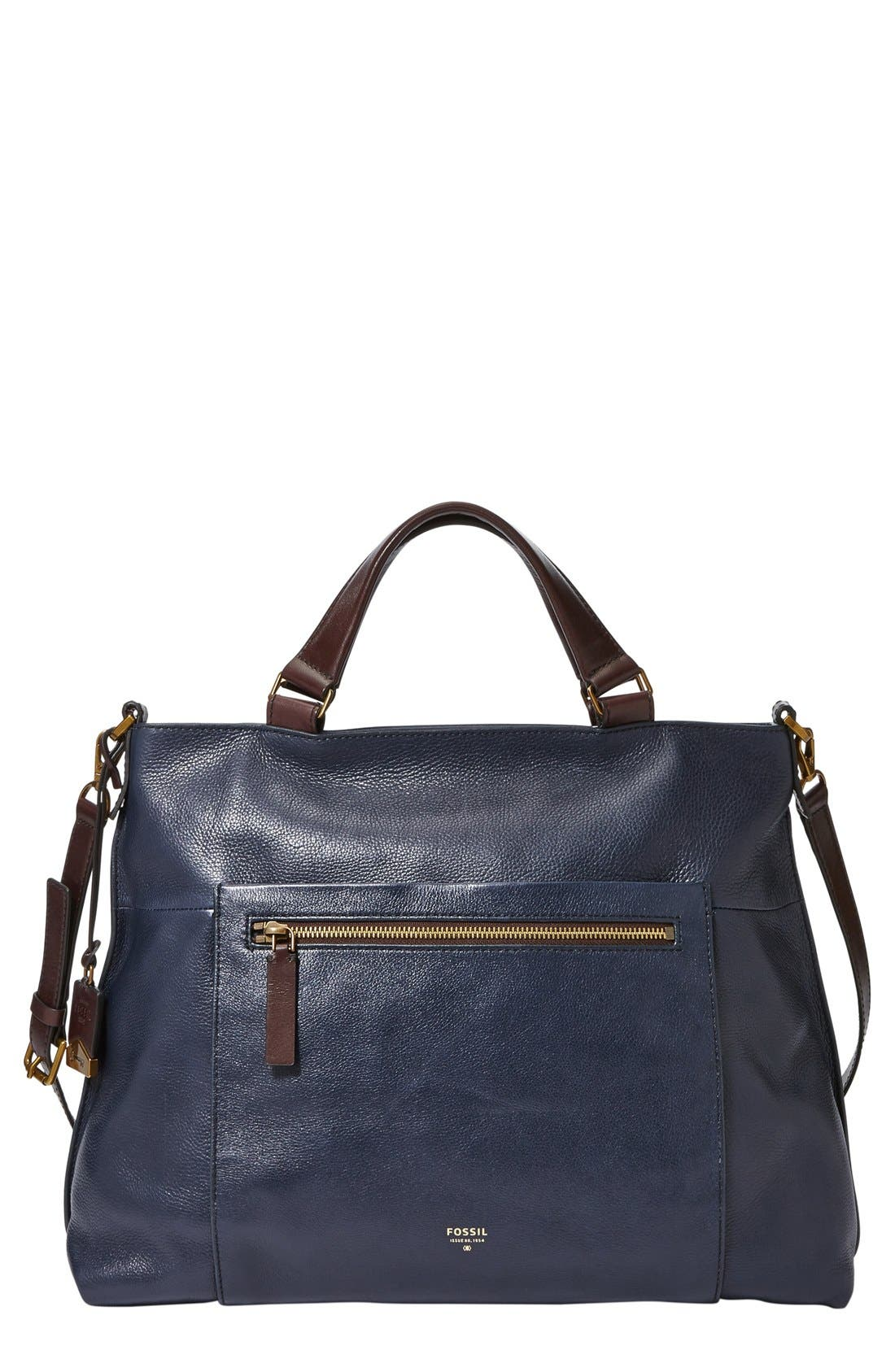 Main Image - Fossil 'Vickery' Leather Crossbody Bag