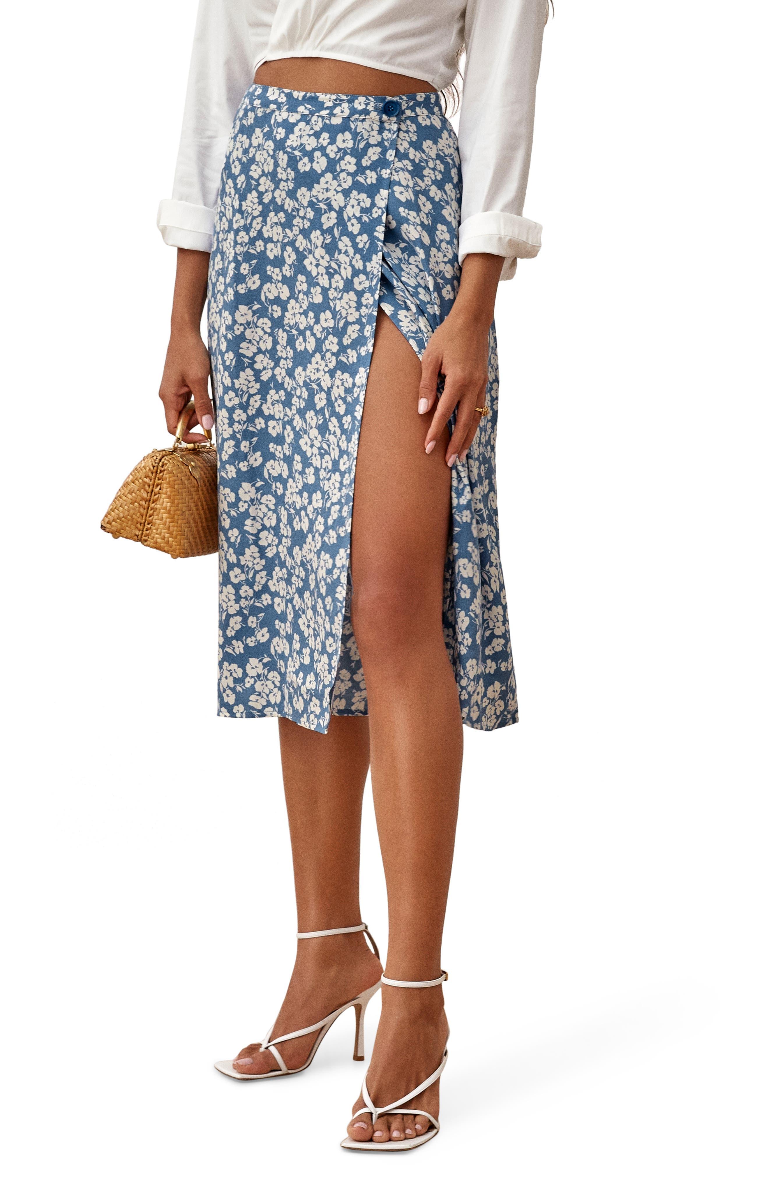 Midi Skirt Woman Clothes, Formal Skirt Design Skirt Purple lace Noprene Skirt