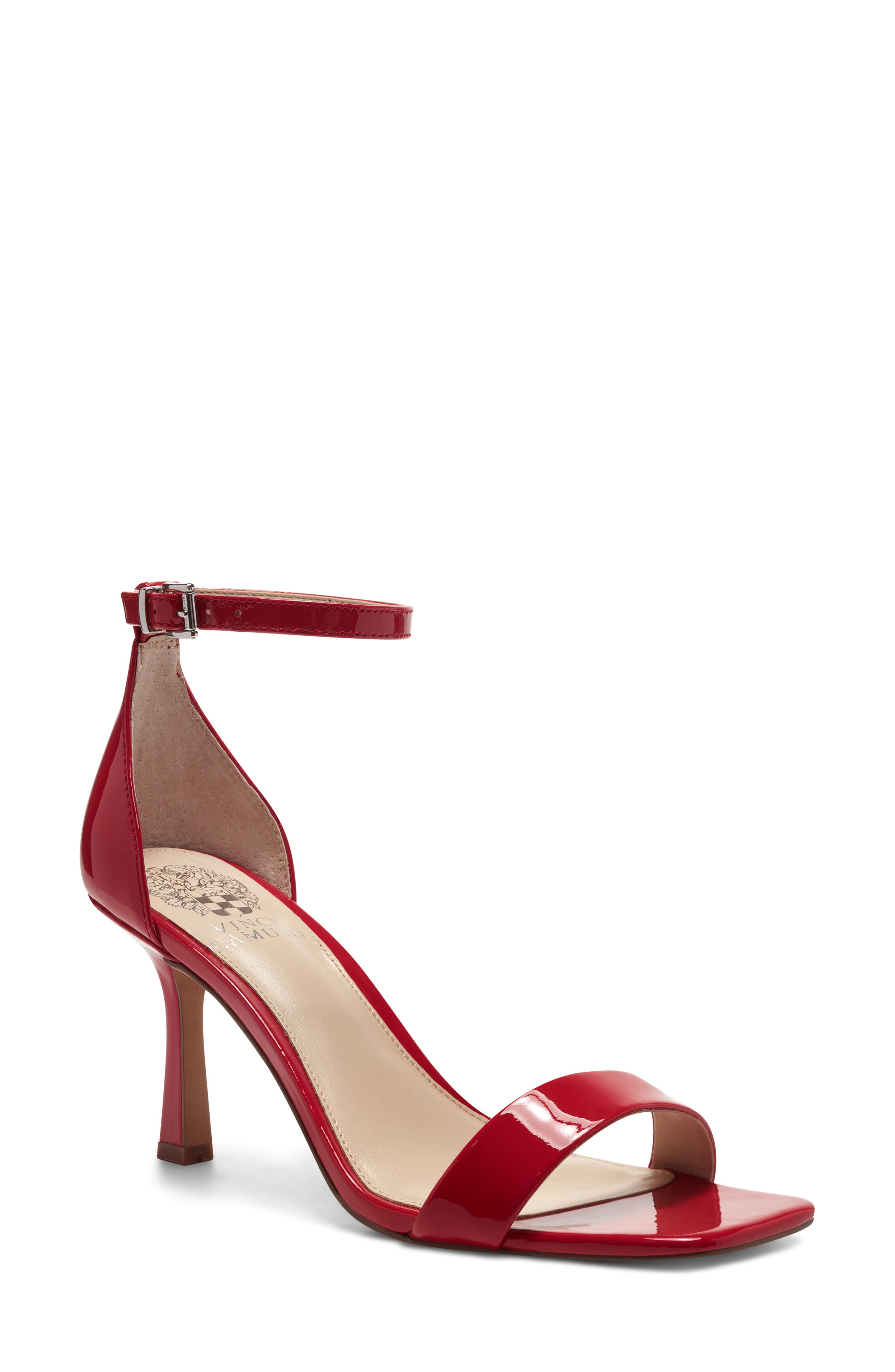 heels leather Sandals inner soles 9 14 strappy red vintage size 7 12 or 38 heel 4 14 pumps