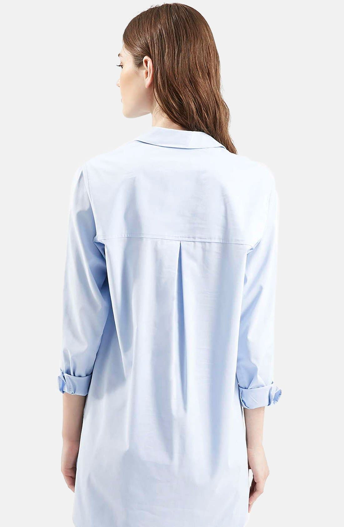 Alternate Image 2  - Topshop Oversize Button Front Shirt
