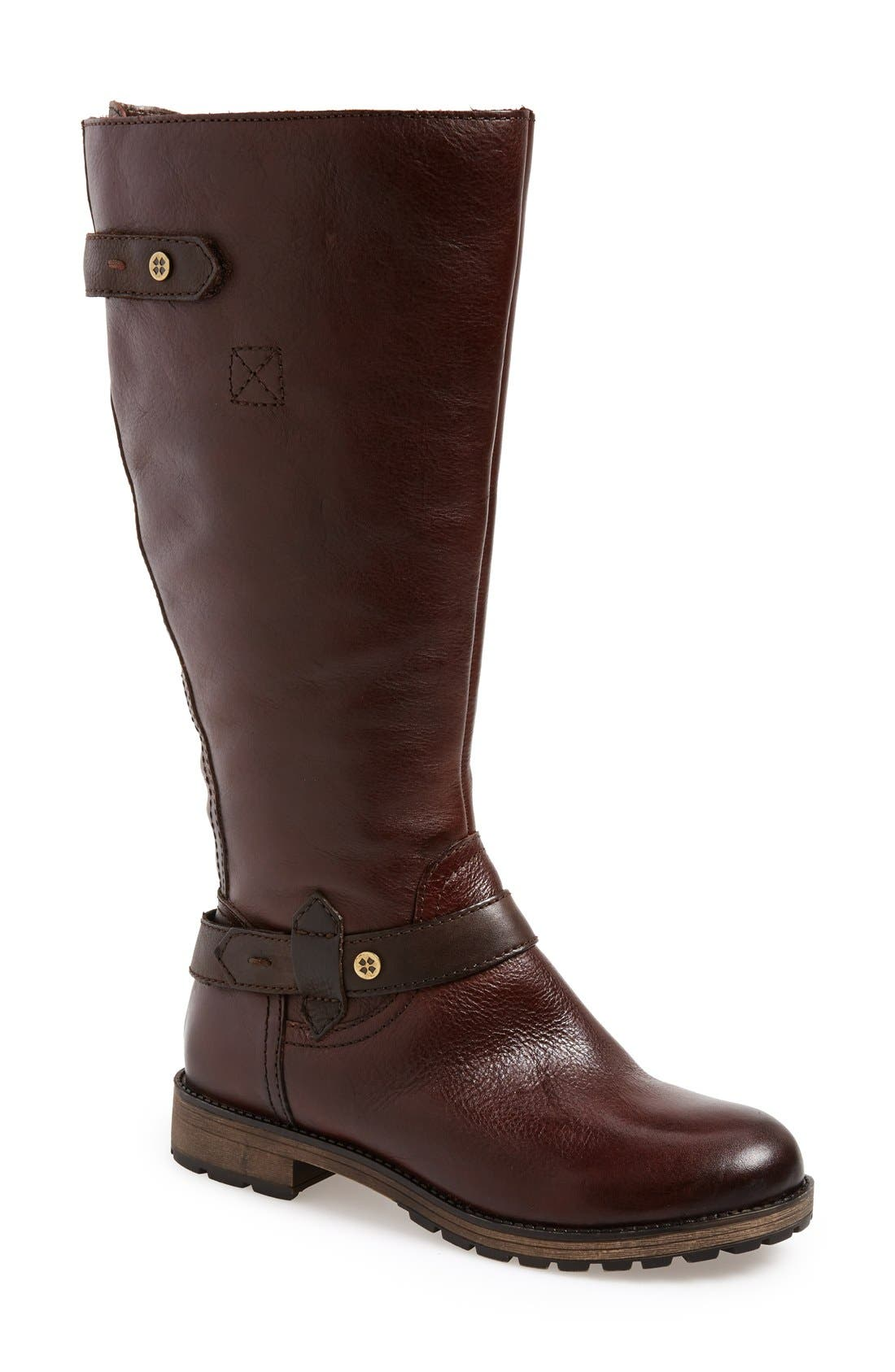 'Tanita' Boot,                         Main,                         color, Tan Leather Wide Calf