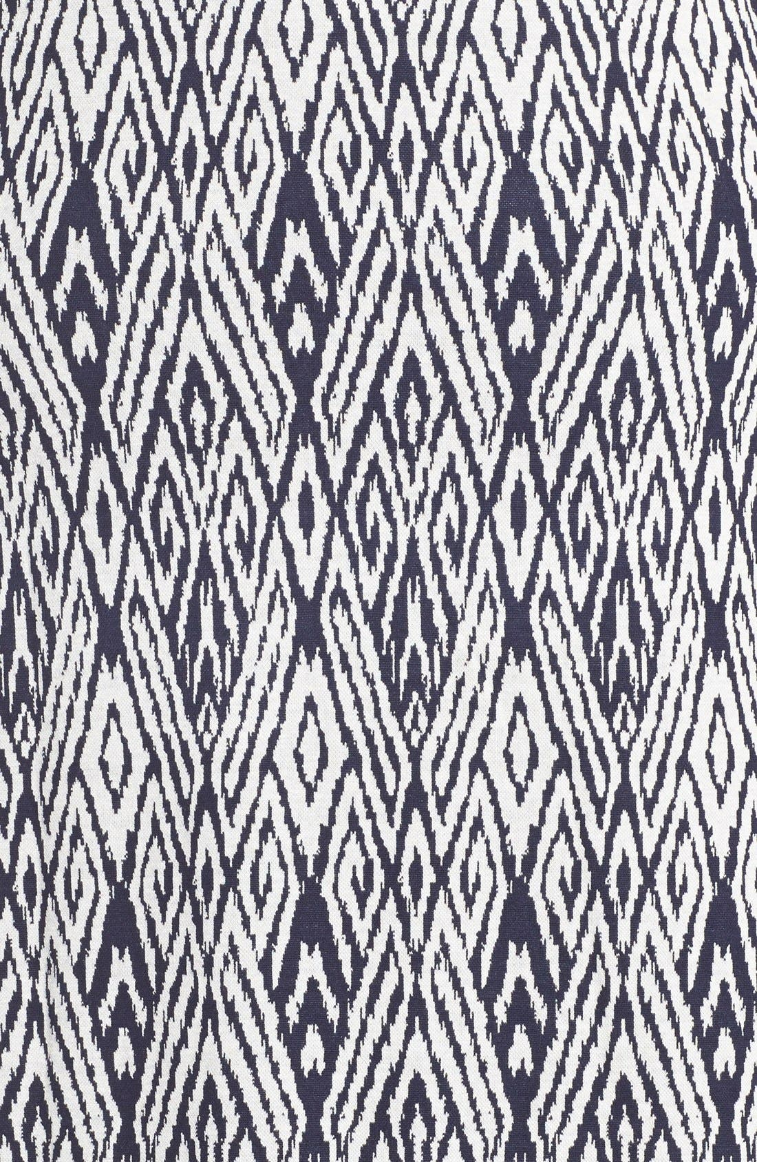 'Falcon' Print French Terry Scoop Back Dress,                         Main,                         color, Navy/ White Ikat
