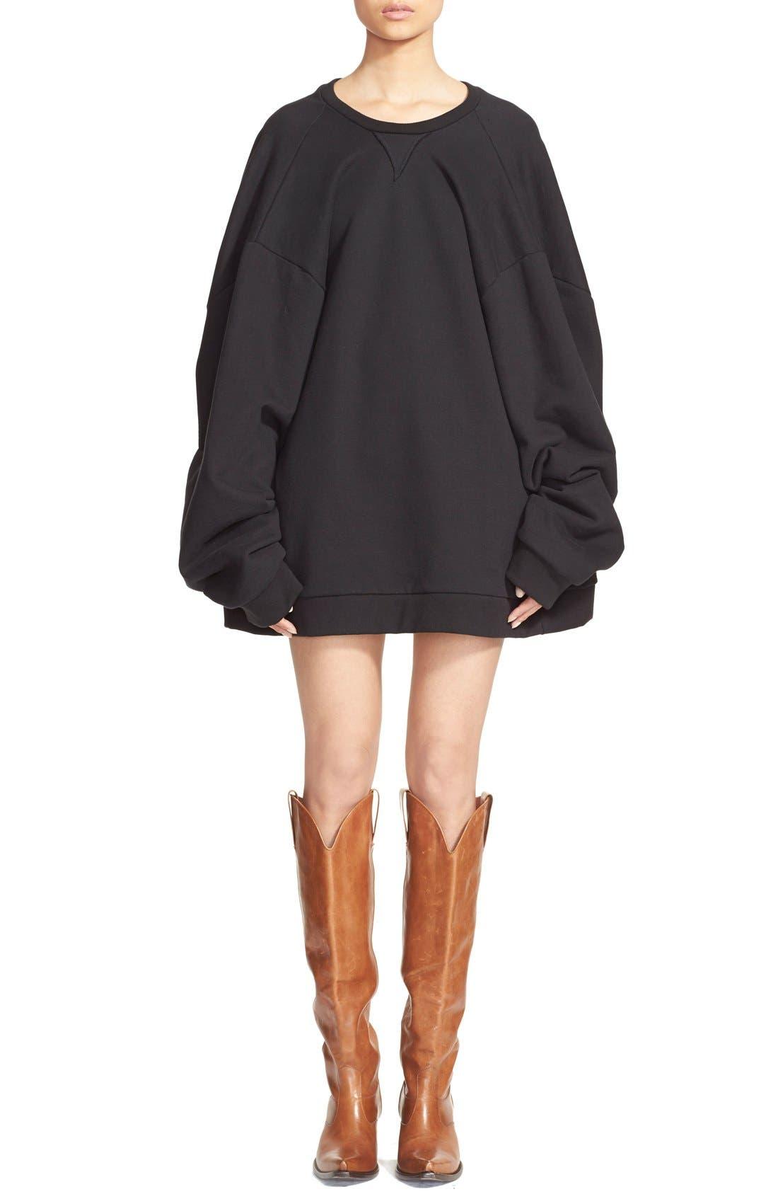Main Image - Vetements Oversize Crewneck Sweatshirt