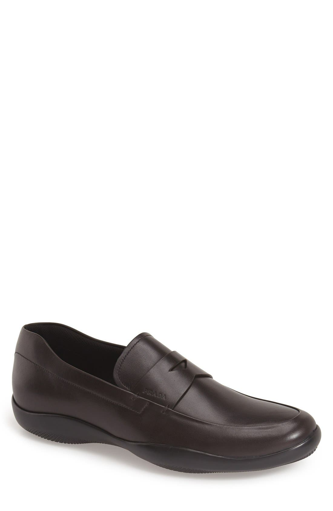 Prada Linea Rossa New Toblak Penny Loafer (Men)