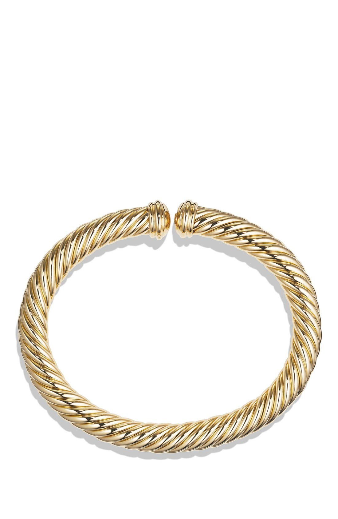 Cable Spira Bracelet in 18K Gold, 7mm,                             Alternate thumbnail 2, color,                             Yellow Gold