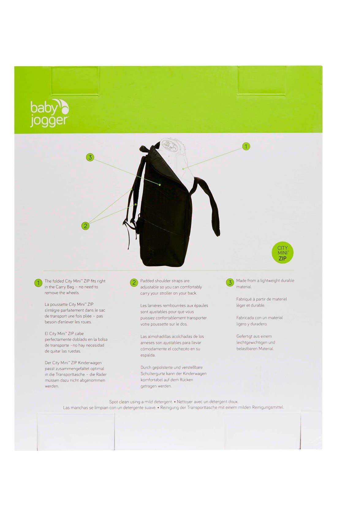 Alternate Image 2  - Baby Jogger 'City Mini® ZIP' Stroller Backpack Carry Bag