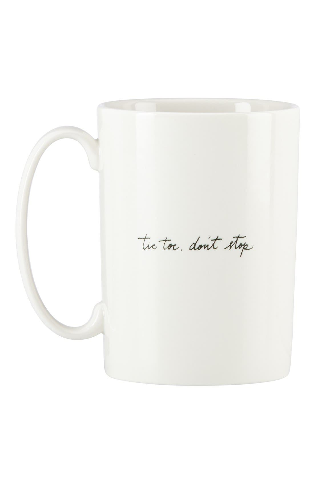 'snap happy - tic toc' porcelain mug,                             Alternate thumbnail 2, color,                             White/ Multi