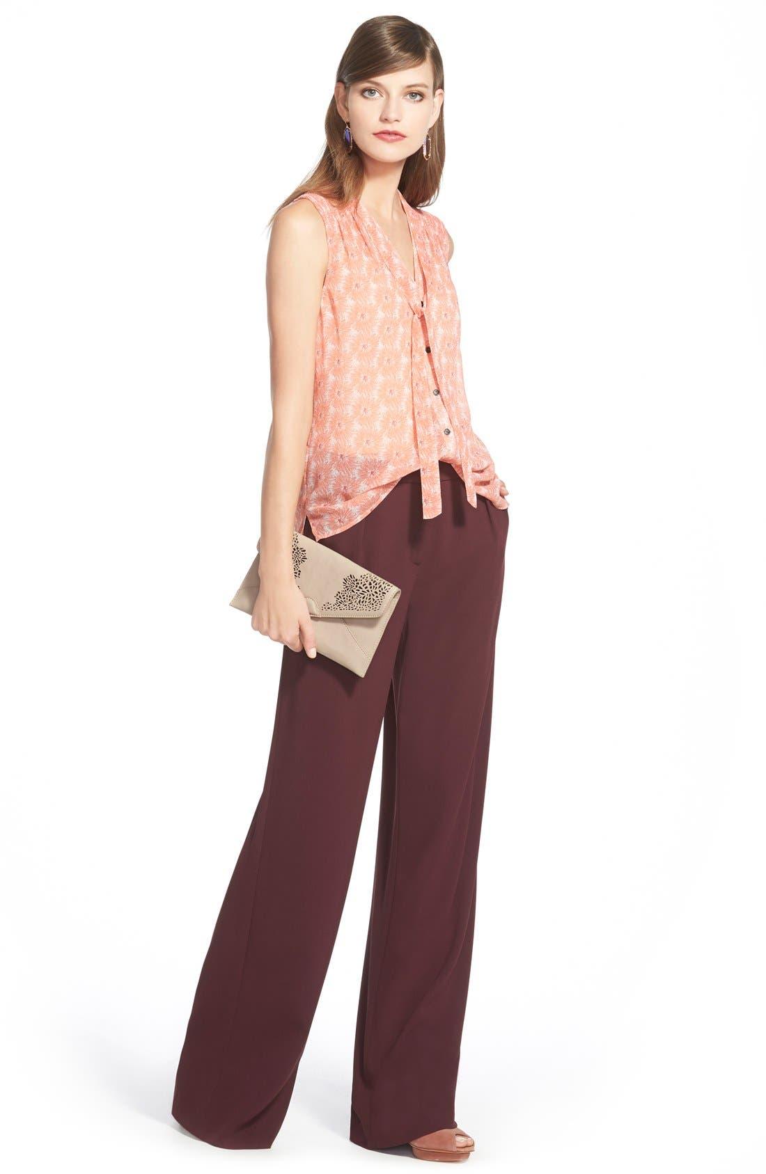 Alternate Image 2  - Chelsea28 Pleated Wide Leg Pants