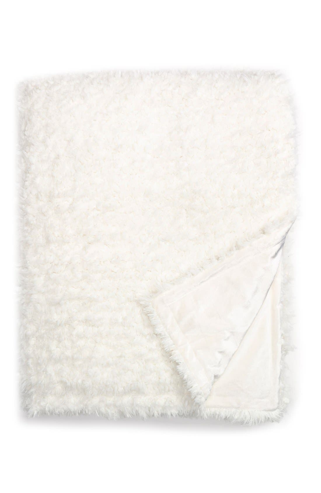 Nordstrom at Home 'Shaggy Plush' Faux Fur Blanket