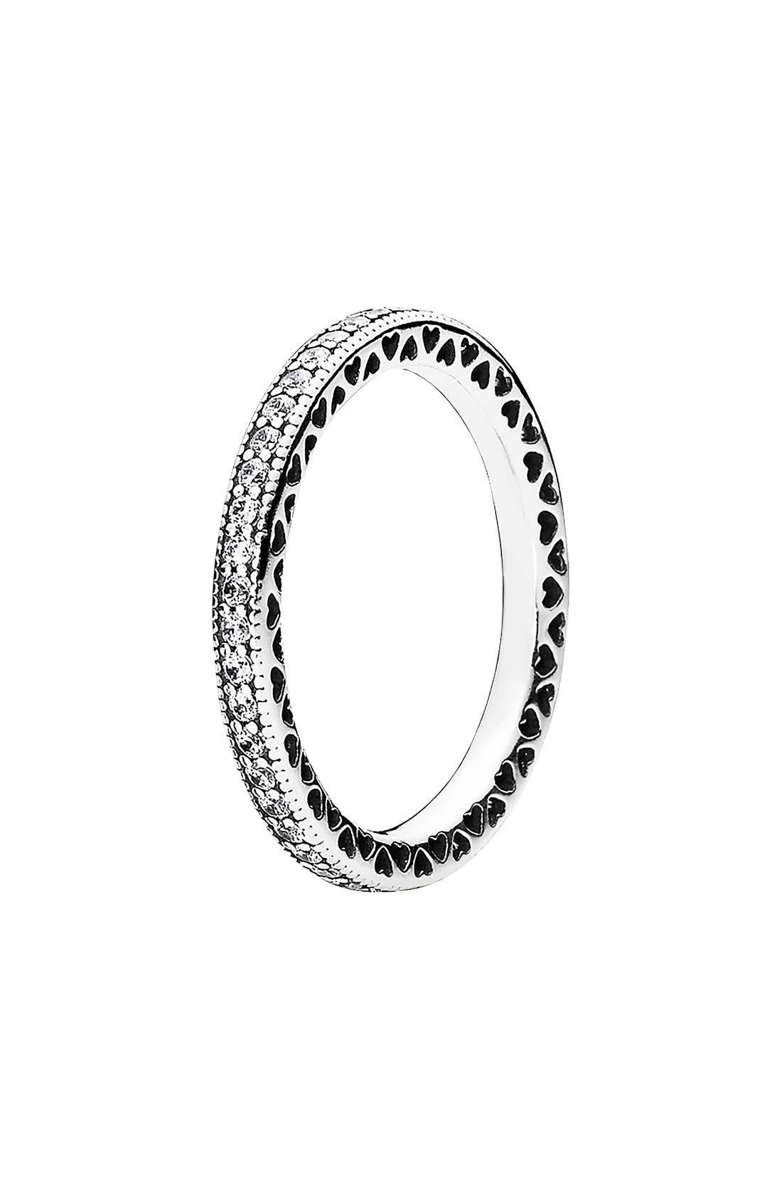 Alternate Image 1 Selected - PANDORA 'Hearts of PANDORA' Band Ring