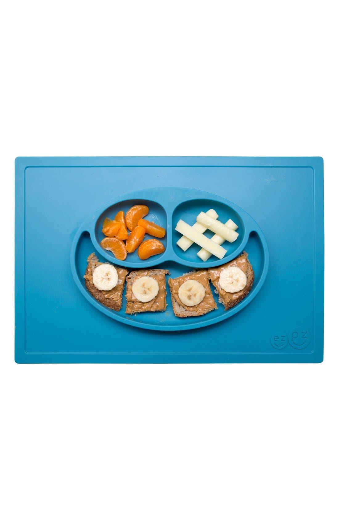 'Happy Mat' Silicone Feeding Mat,                             Alternate thumbnail 4, color,                             Blue