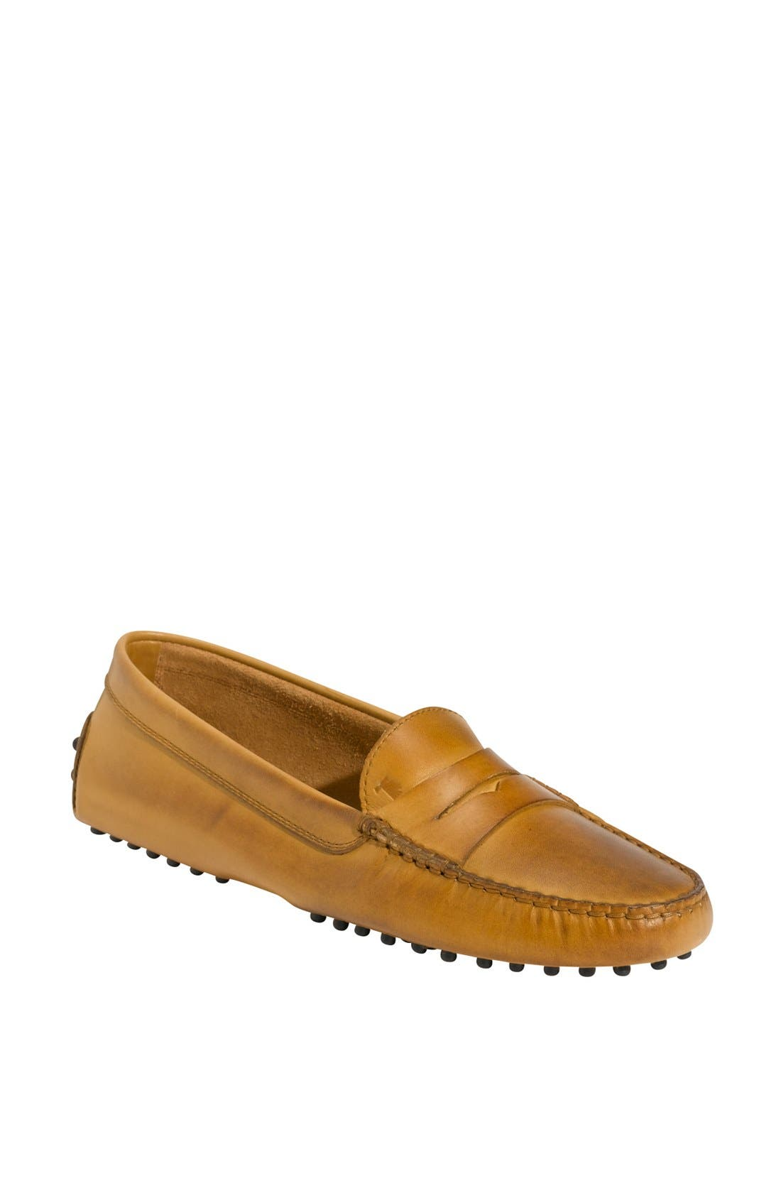 'Gommini' Driving Moccasin,                             Main thumbnail 1, color,                             Brown