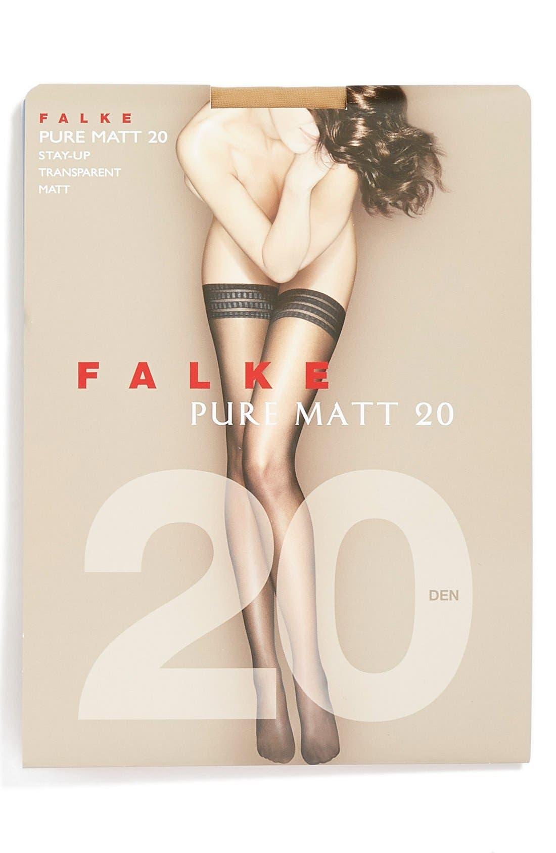 'Pure Matt 20' Stay-Up Stockings,                             Alternate thumbnail 2, color,                             Golden