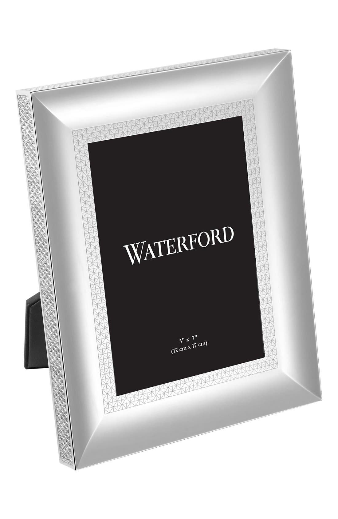 Main Image - Waterford Lismore Diamond Lead Crystal Picture Frame
