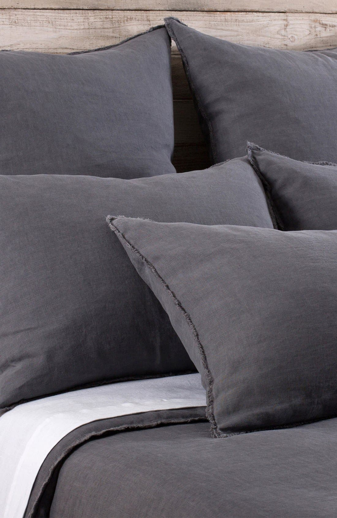'Blair' Linen Duvet Cover,                         Main,                         color, Midnight