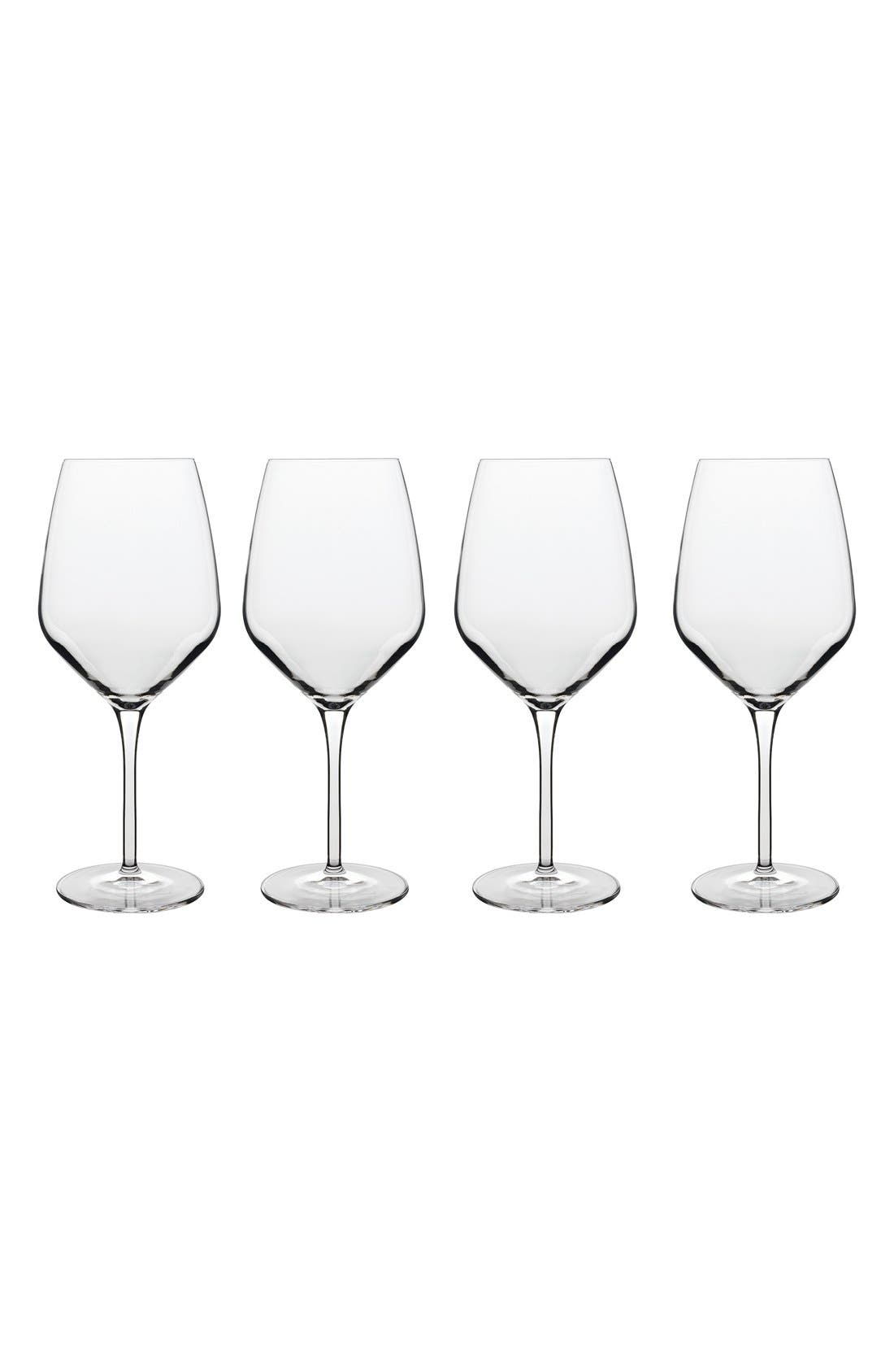 Prestige Set of 4 Wine Glasses,                             Main thumbnail 1, color,                             White