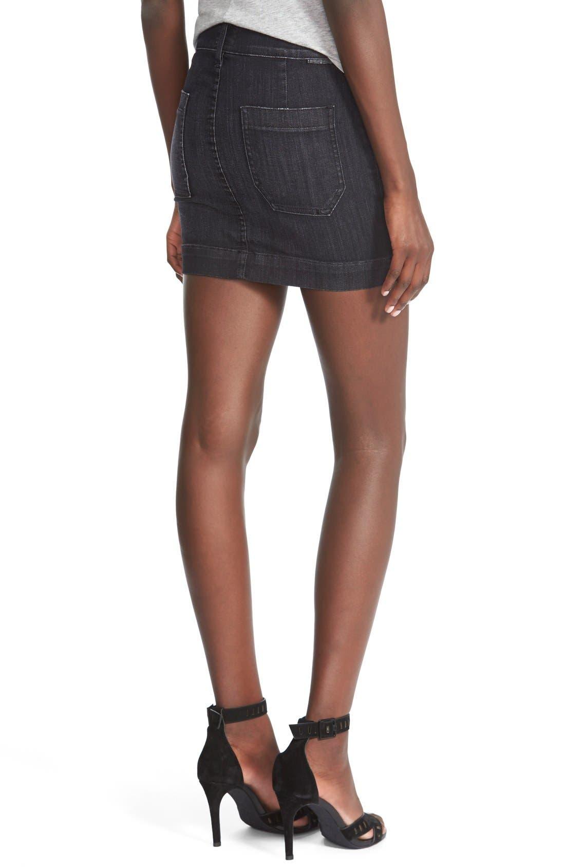 Alternate Image 2  - Hudson Jeans'Rose'High Waist Skirt