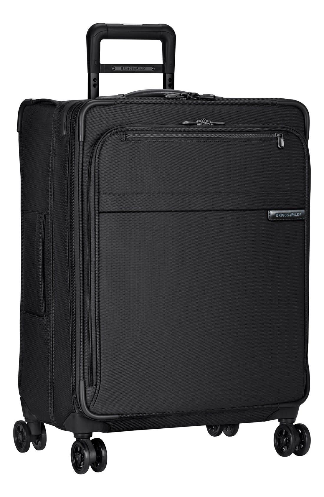 'Baseline' Medium Expandable Rolling Packing Case,                         Main,                         color, Black