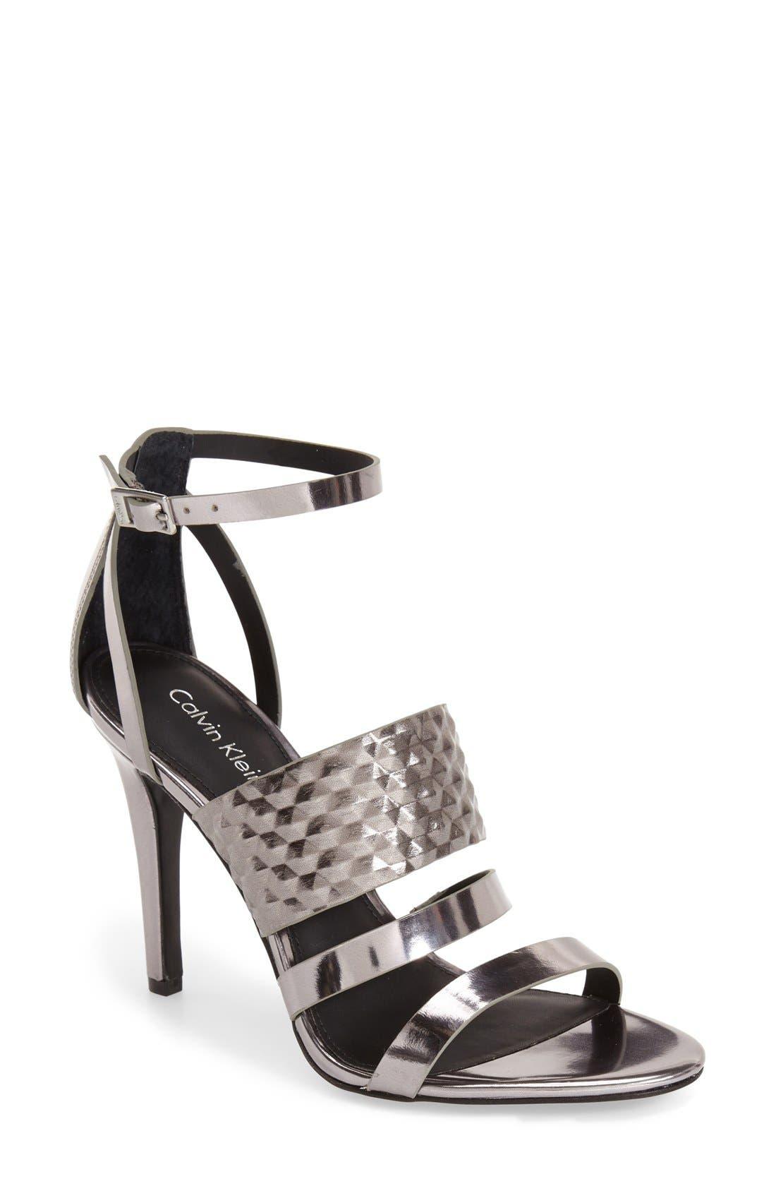 Alternate Image 1 Selected - Calvin Klein 'Mayra' Cage Sandal (Women)