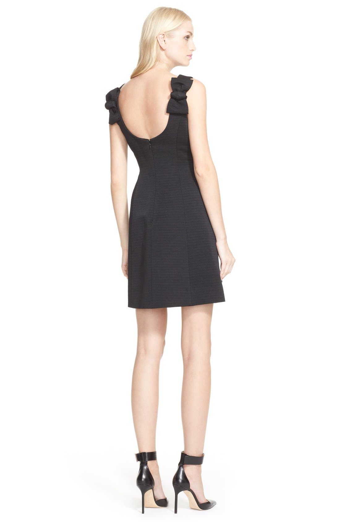 Alternate Image 2  - kate spade textured fit & flare bow detail dress