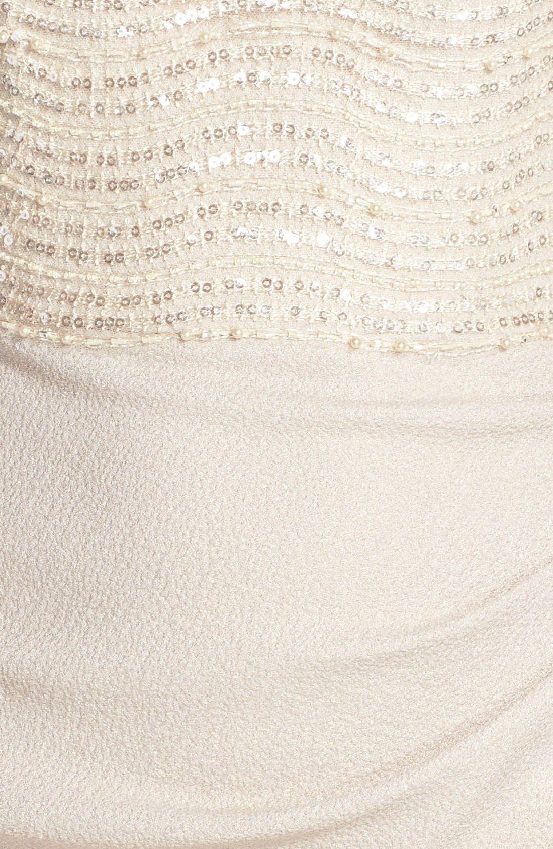 Alternate Image 3  - Badgley Mischka Embellished Illusion Crepe Gown
