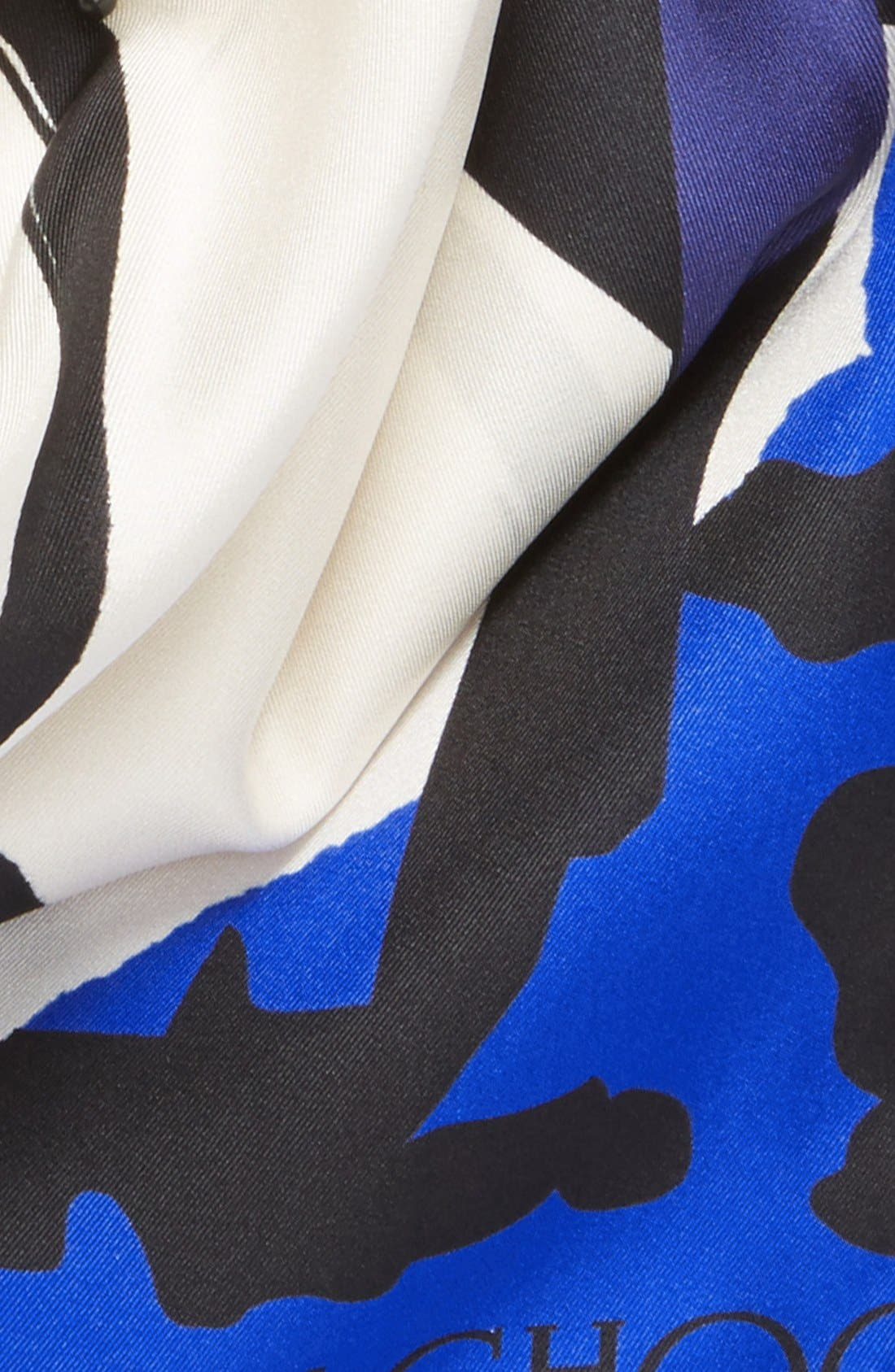 Alternate Image 3  - Jimmy Choo Shoe Print Silk Scarf
