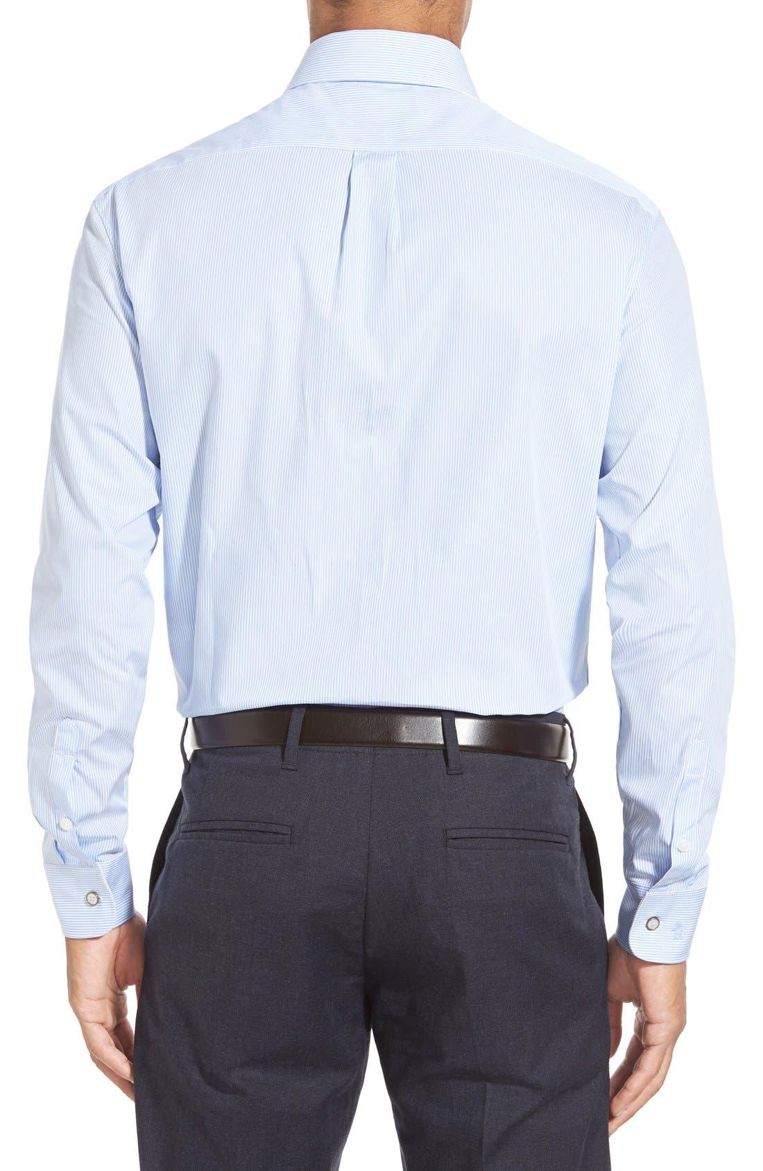 Alternate Image 4  - Calibrate Extra Trim Fit Non-Iron Microcheck Dress Shirt