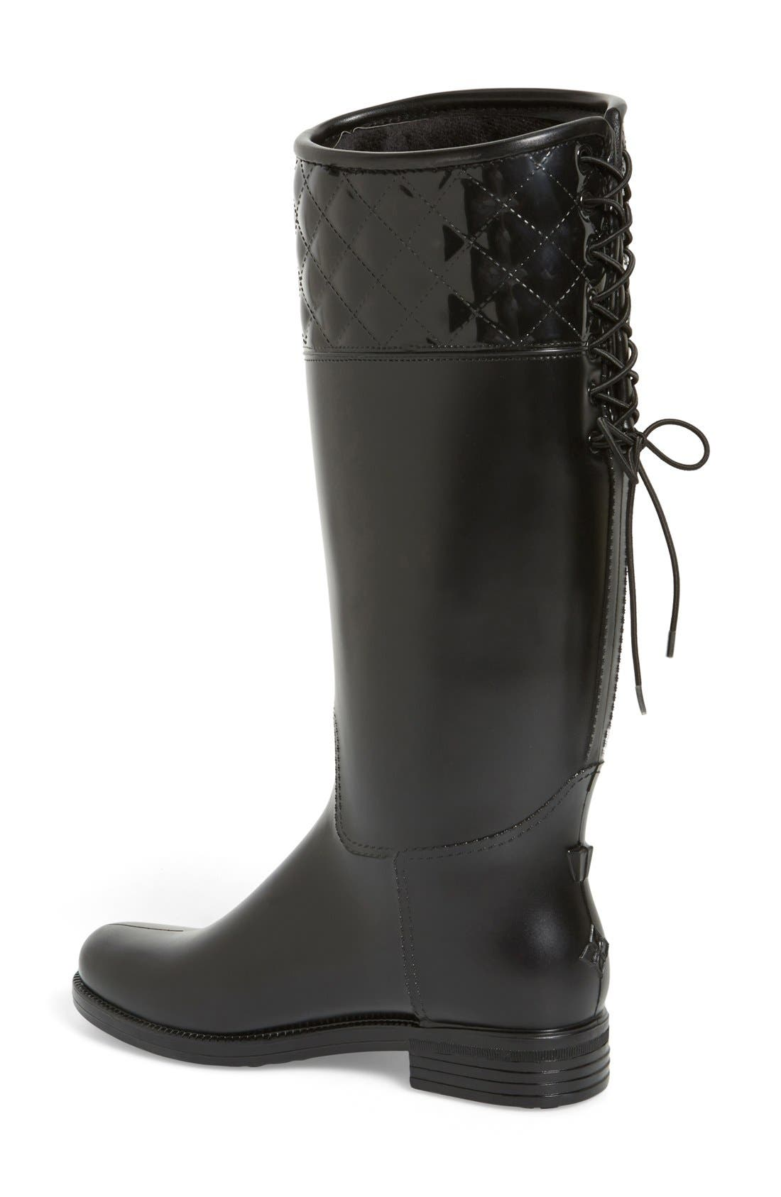 Alternate Image 2  - däv 'Victoria' Waterproof Tall Rain Boot (Women)