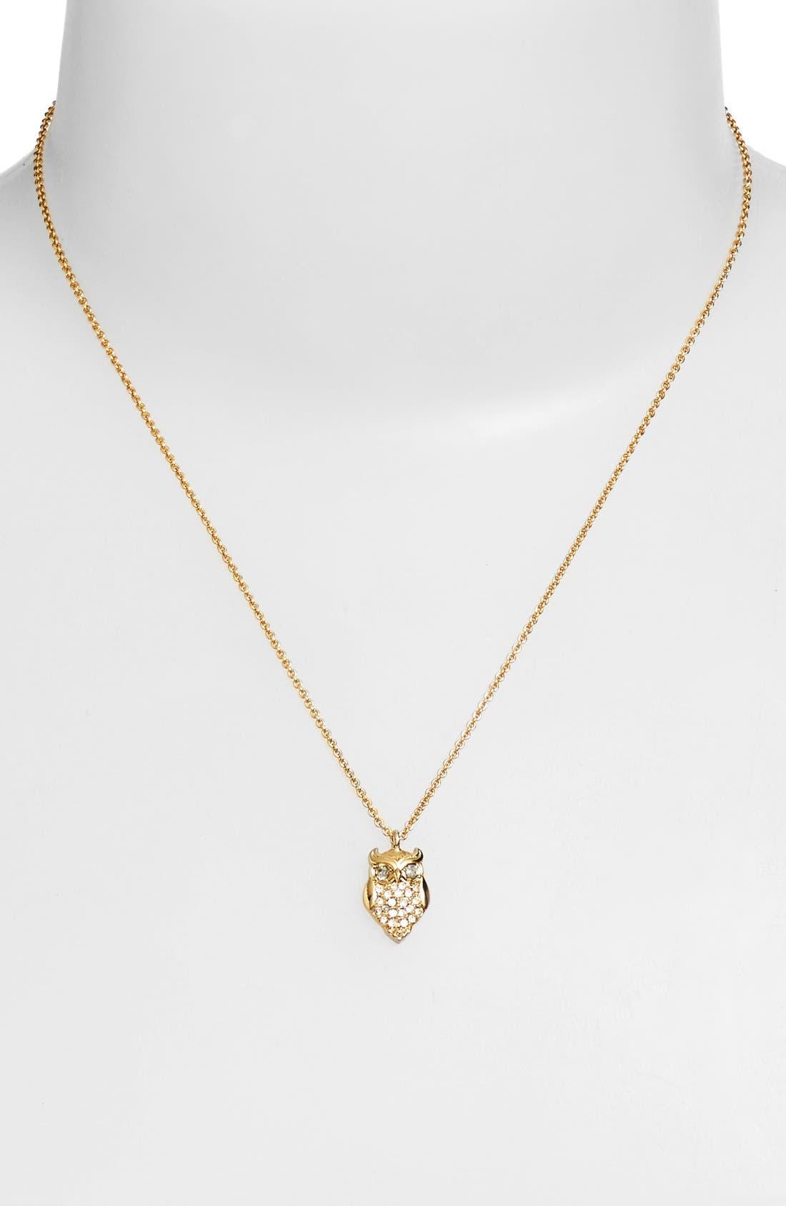 Alternate Image 2  - katespade new yorkowl pendant necklace