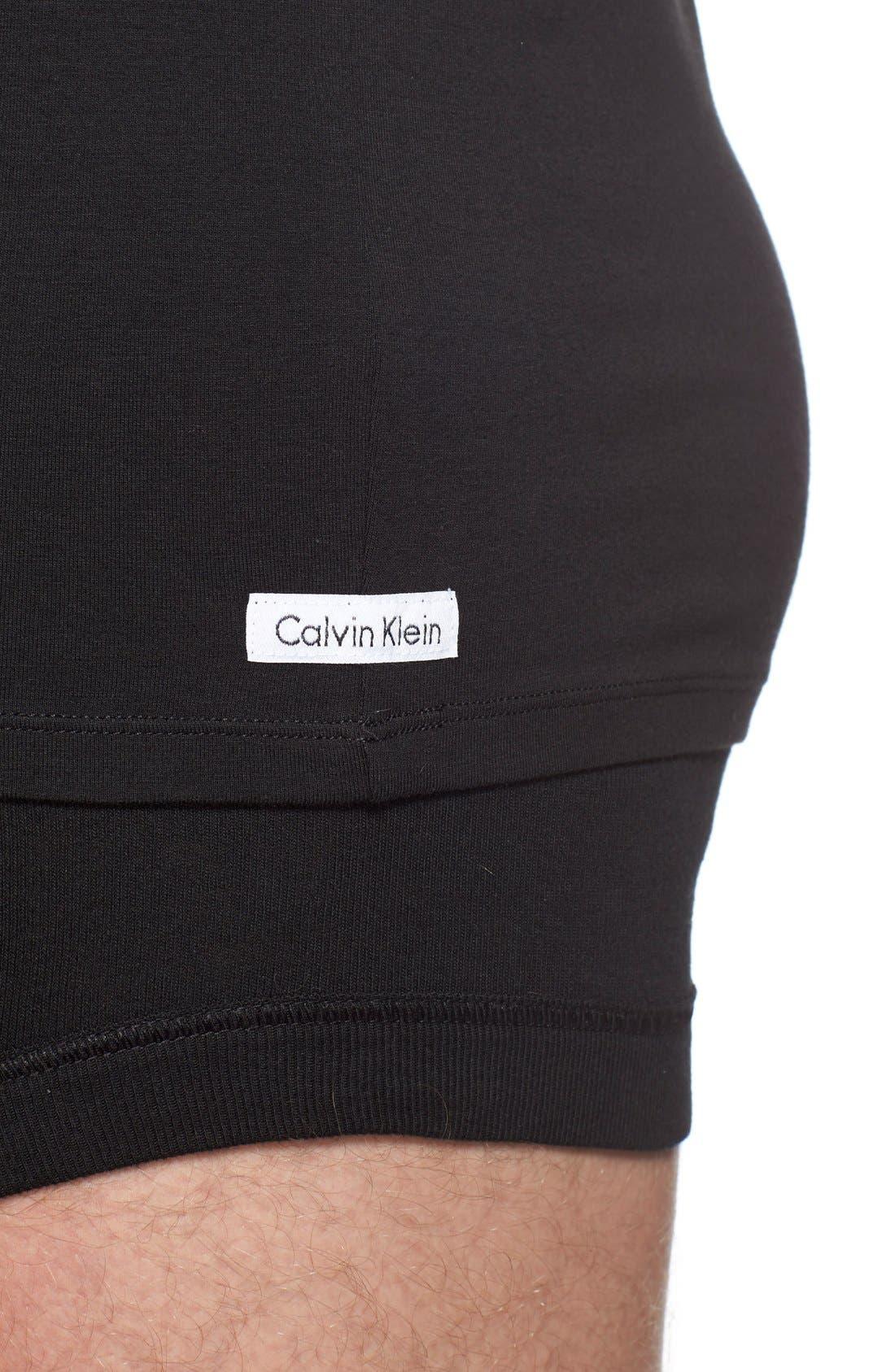 Alternate Image 4  - Calvin Klein 2-Pack Stretch Cotton T-Shirt