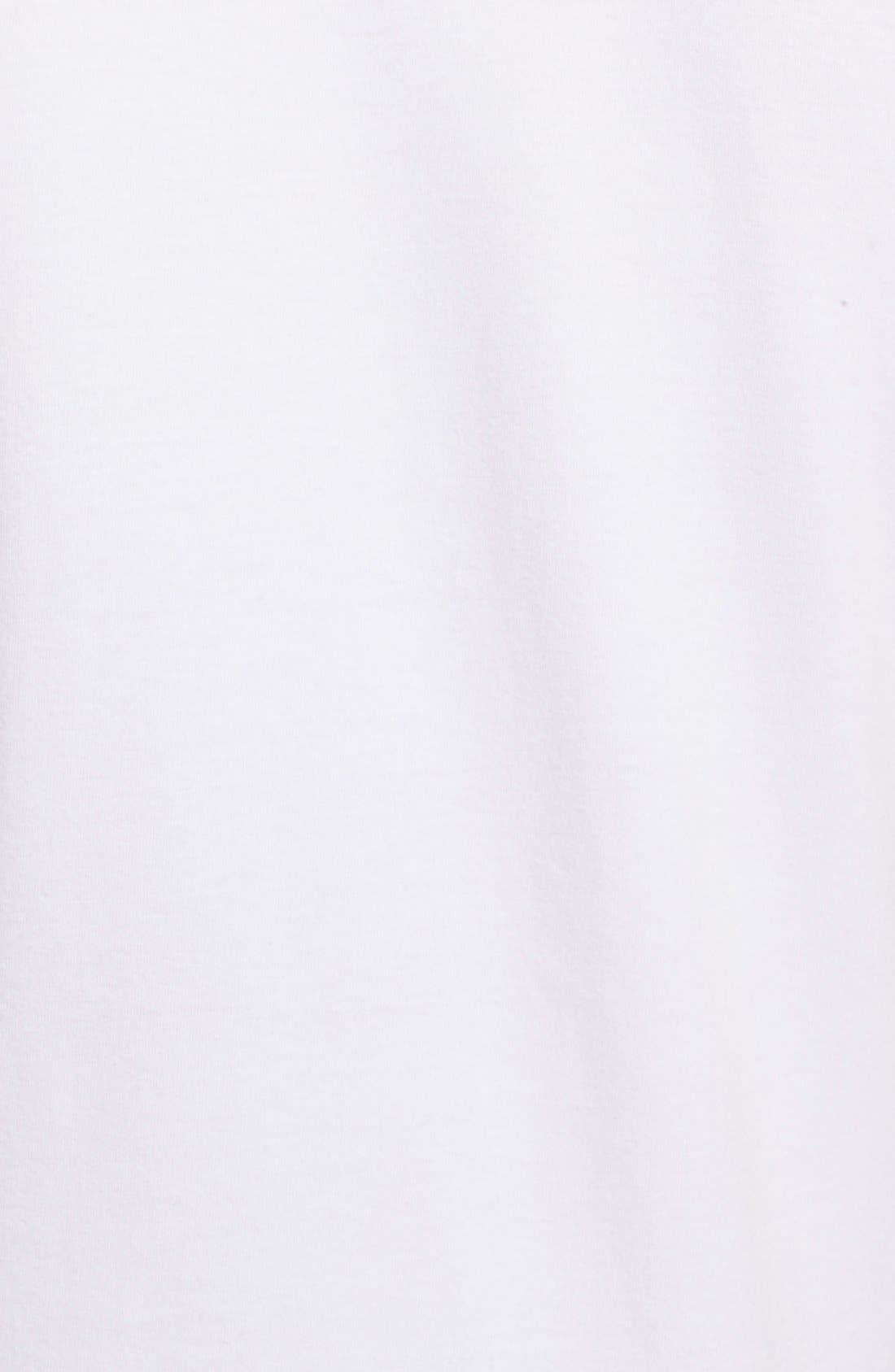 2-Pack Stretch Cotton Crewneck T-Shirt,                             Alternate thumbnail 5, color,                             White