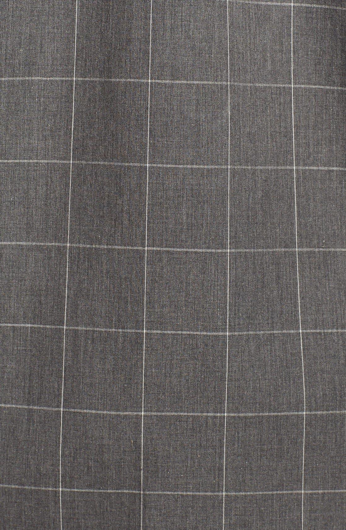 Woven Pajama Top,                             Alternate thumbnail 5, color,                             Charcoal