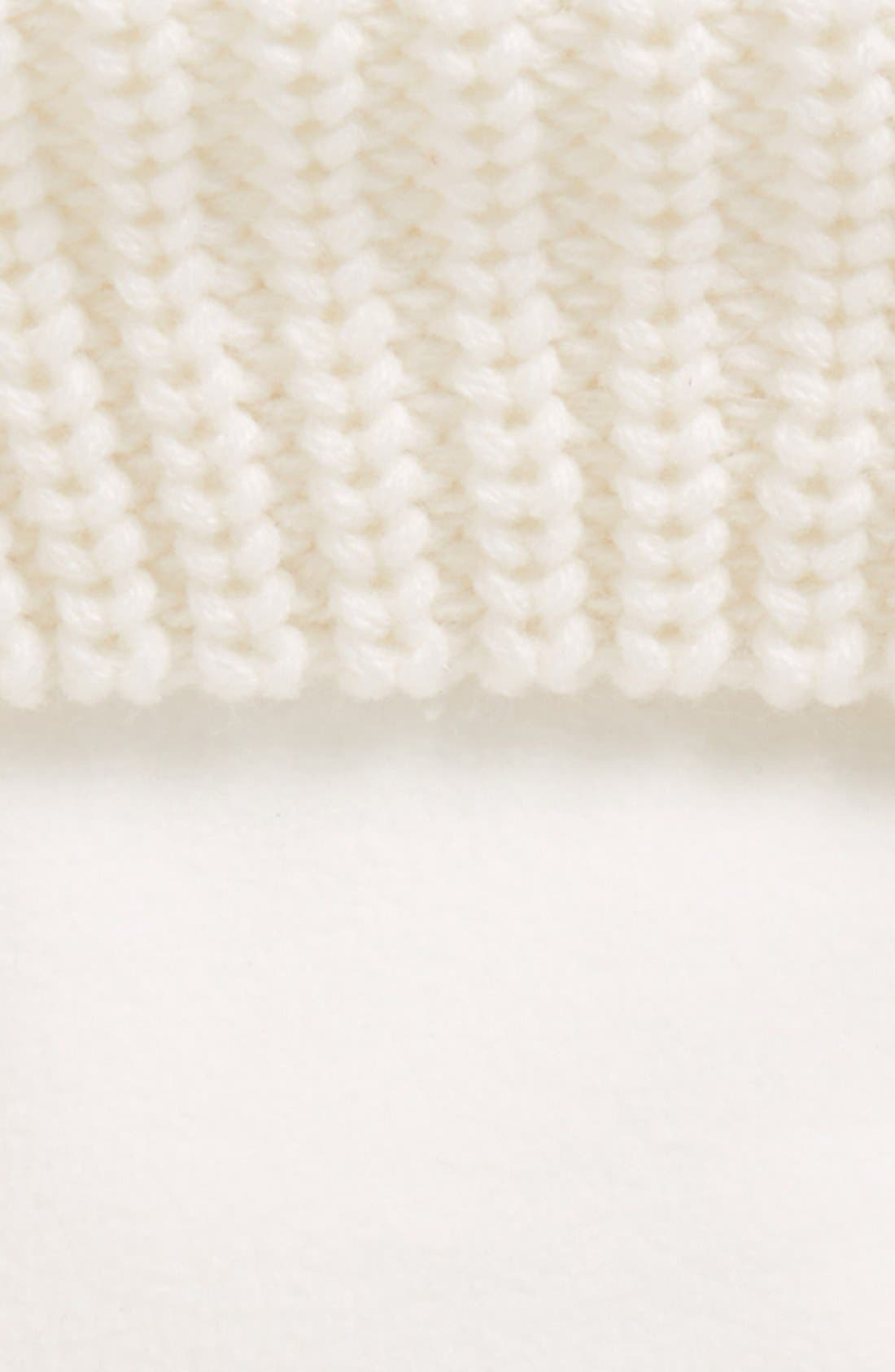 'Half Cardigan' Fleece Boot Socks,                             Alternate thumbnail 2, color,                             White