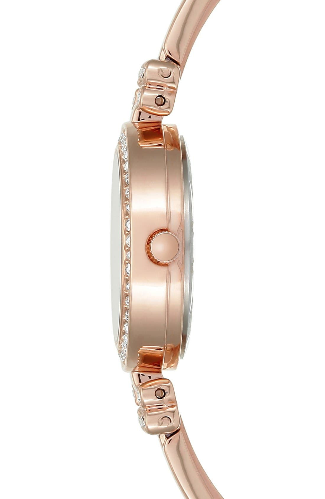 Boxed Bracelet & Bangle Watch Set, 24mm,                             Alternate thumbnail 3, color,                             Rose Gold