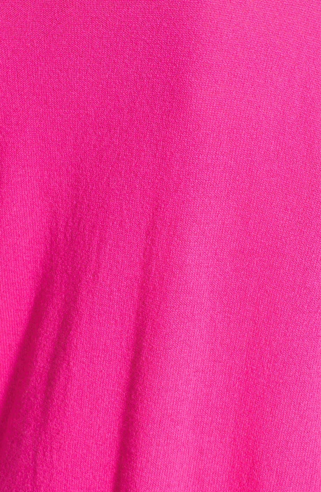ColorblockCashmere Boyfriend Sweater,                             Alternate thumbnail 3, color,                             Pepper/ Pink Combo