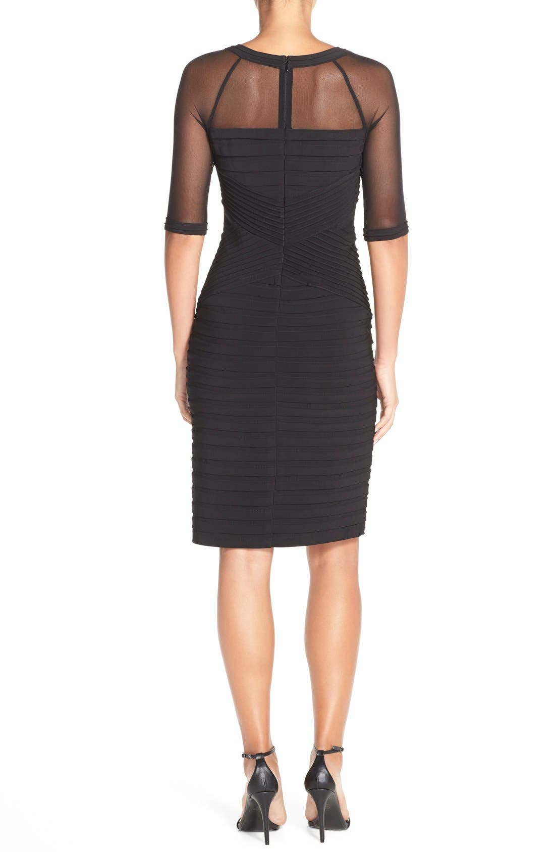 Alternate Image 2  - Adrianna PapellIllusion Pleated Jersey Shift Dress