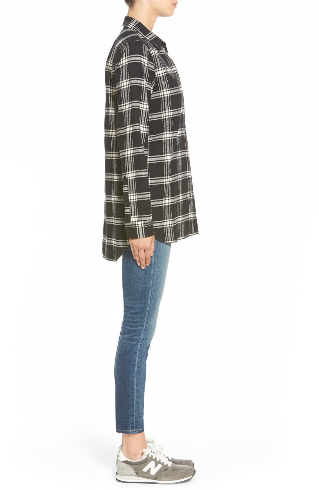 Alternate Image 4  - Madewell 'Rutherford Plaid' Flannel Ex-Boyfriend Shirt